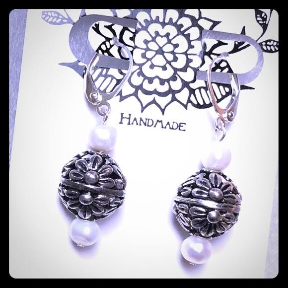 Floral Globe Earrings